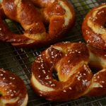 freshly baked pretzels