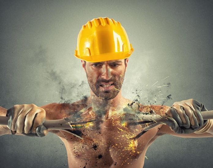 electric shock at a construction site